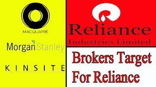 बड़े Brokers ने बताए Reliance में Targets/Reliance news/anti bear