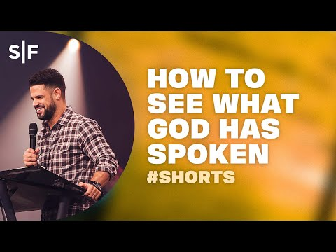 How To See What God Has Spoken #Shorts  Steven Furtick