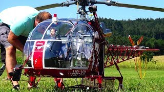 WORLD BIGGEST RC TURBINE SCALE MODEL HELICOPTER SA-315B LAMA