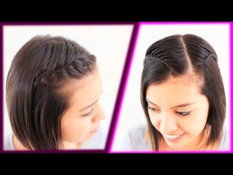 Youtube Peinados Faciles Para Cabello Corto Peinado Con Trenza