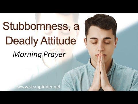 1 SAMUEL 15 - STUBBORNNESS A DEADLY ATTITUDE - MORNING PRAYER (video)