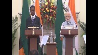 PM Narendra Modi and President of Zambia Edgar Chagwa Lungu Address a Joint Press Briefing