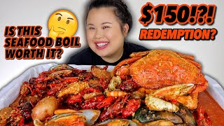 KING CRAB LEGS + DUNGENESS CRAB + SHRIMP + MUSSELS + CRAWFISH SEAFOOD BOIL MUKBANG 먹방 EATING SHOW!