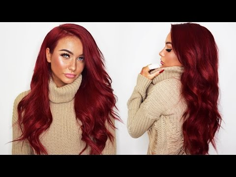 How I dye my Bellami Hair Extensions RED + UNBOXING the Bellami BOO-GATTI  d5afc7f7c