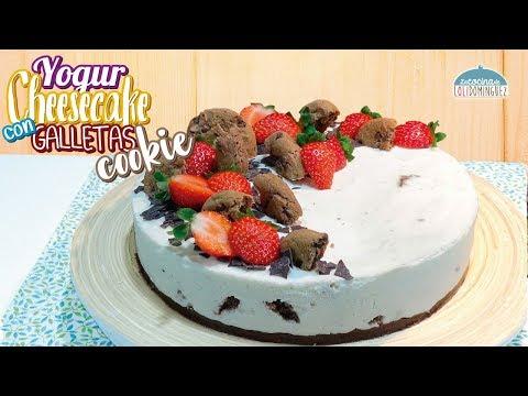 Tarta de yogur y queso con galletas cookies SIN HORNO - Cheesecake de yogur - Cheesecake fácil - UC5ONfXPjWgqElh0NZaRJ1tg