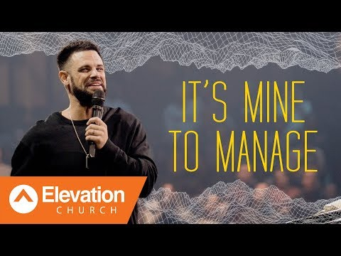 Are you managing your miracle?  Gamechanger  Pastor Steven Furtick