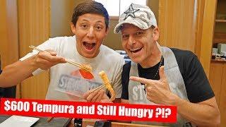 親子でビバリーヒルズの超高級天ぷら屋へ行ってみた結果。。。!? Dinner at Tempura Endo in Beverly Hills and Hamburger for Desert??