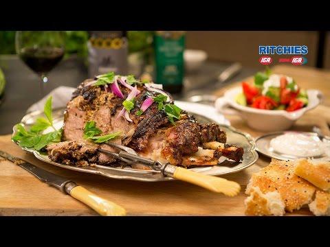 Slow roast Greek style leg of lamb - UCzHIT8512ZgkmTHzqYZ02uA
