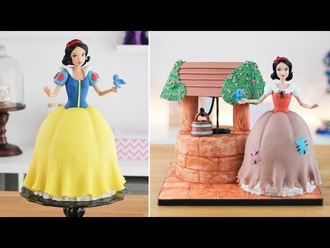DISNEY PRINCESS: SNOW WHITE DOLL CAKE 🍎Tan Dulce - UCdVkiNlwsE_I9ugOkIIzifg