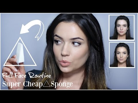 Cheap Makeup Sponge Application | Foundation, Contour, Highlight & Blush Tutorial | TheMakeupChair - UC-1-zPmT368J8JRbsK_1keA