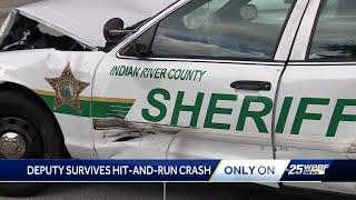 Deputy survives hit and run crash