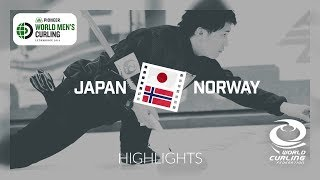 HIGHLIGHTS: Japan v Norway - round robin - Pioneer Hi-Bred World Men's Curling Championship 2019