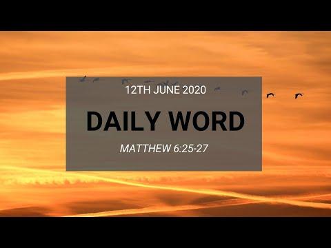 Daily Prophetic 12 June 2020 Matthew 6