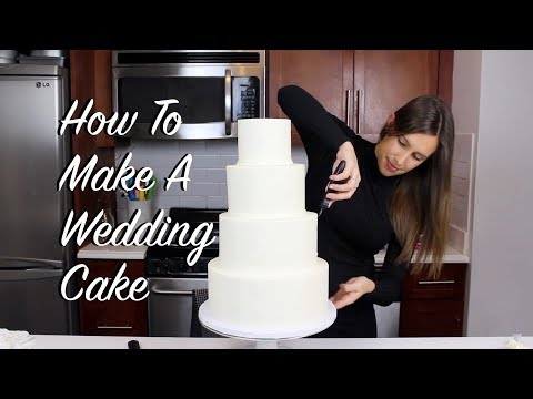 How To Make A Wedding Cake At Home | CHELSWEETS