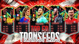 FIFA 20: TOP 50 TRANSFERS! + SPIELER RATING PREDICTIONS🔥🔥