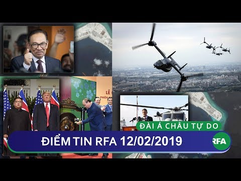 Điểm tin RFA tối 12/02/2019 | Anh hối thúc phương Tây tăng cường sức mạnh quân sự ở Thái Bình Dương