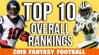 2019 Fantasy Football - Top 10 Rankings Overall