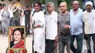 Emotional TV Celebrities Pay Last Tribute To Actress Vidya Sinha