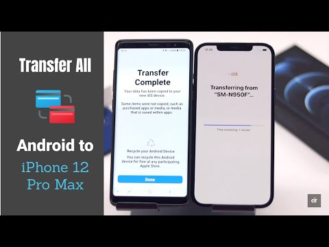 Transfer Data from Android to iPhone 12 Pro Max 2021