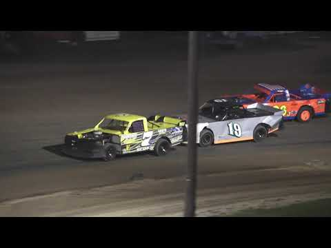 Pro Truck A-Feature at Crystal Motor Speedway, Michigan on 08-14-2021!! - dirt track racing video image