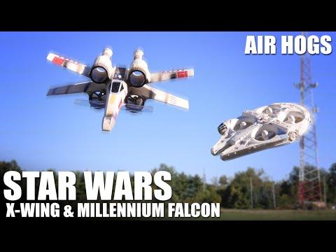 Star Wars X-Wing & Millennium Falcon by Air Hogs | Flite Test - UC9zTuyWffK9ckEz1216noAw