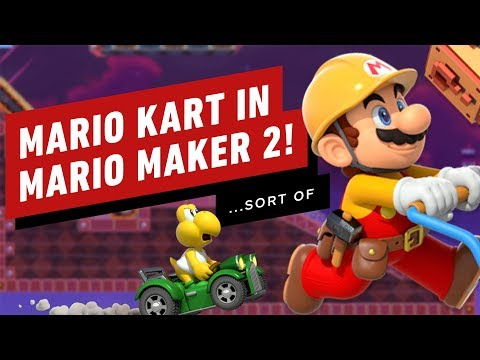 Mario Kart Meets Super Mario Maker 2 In This Awesome Stage - Gameplay - UCKy1dAqELo0zrOtPkf0eTMw