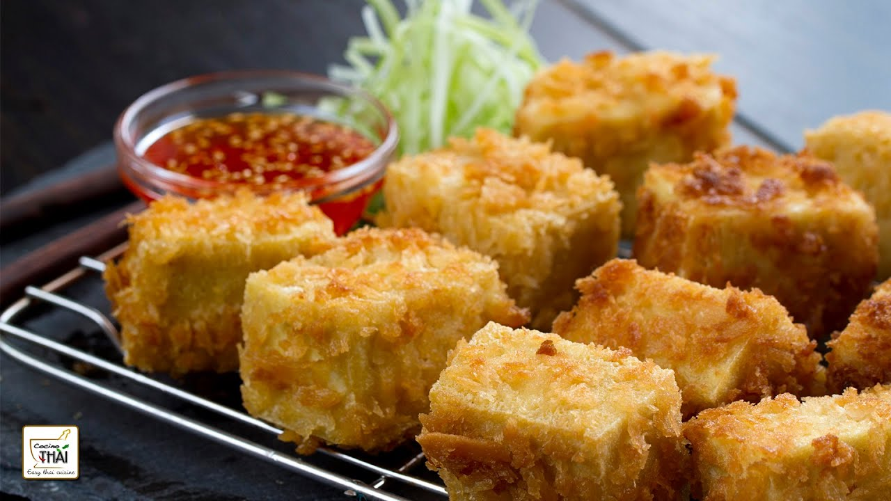 Tofu Frito Con Salsa Agridulce De Pimiento Rojo   Receta De Tofu ⎜Cocino  Thai | AudioMania.lt
