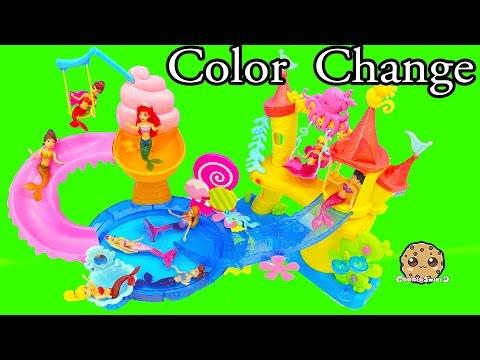 Color Changing Mermaids Disney Little Kingdom Ariel + Sisters Water Play - Cookieswirlc Videos - UCelMeixAOTs2OQAAi9wU8-g