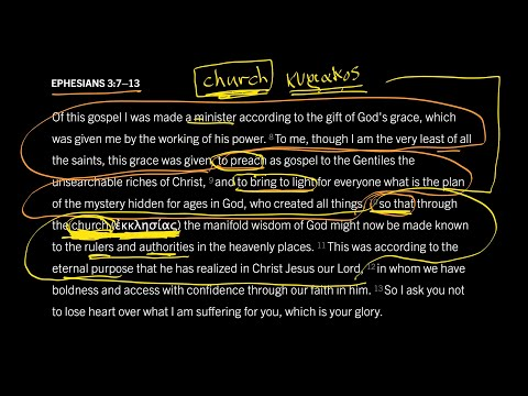 Ephesians 3:713 // Part 5 // What Does the Word Church Mean?