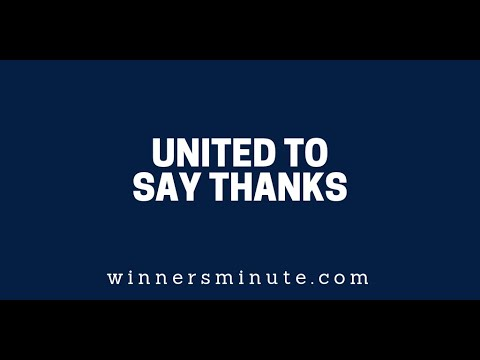 United to Say Thanks  The Winner's Minute With Mac Hammond