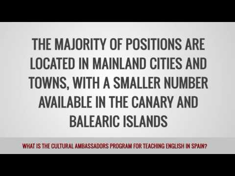 video discussing the cultural ambassador program in Spain