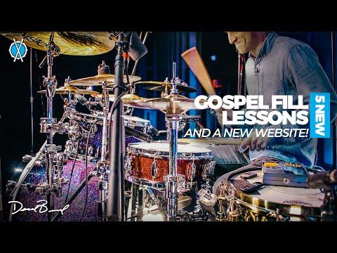 5 New Gospel Drum Fill Lessons!