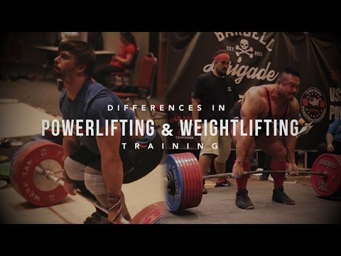 Differences in Powerlifting and Weightlifting Training | JTSstrength.com - UCxEV58PJpZhoYN3L35_48Pg