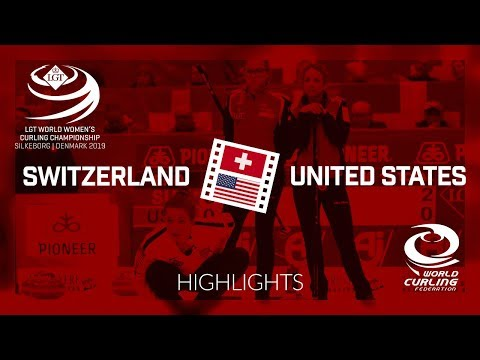 HIGHLIGHTS: Switzerland v United States - round robin - LGT World Women's Curling Championship 2019