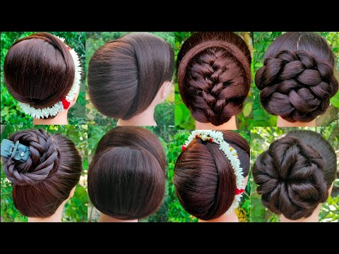 8 Beautiful Bun Hairstyle for Wedding And party    Trending Hairstyle    Latest Juda Hairstyle   