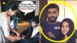 Jhanvi Kapoor Celebrating RAKSHA Bandhan With Brother Arjun Kapoor At Their Home