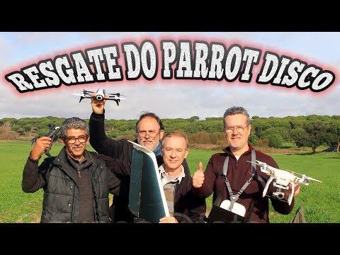 Resgate do Parrot Disco com o Dji Phantom 3 Professional