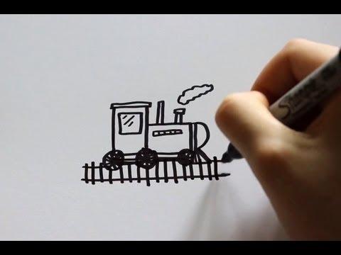 How to Draw a Cartoon Train - UCqotFSqYXdPcswIjguZOd8A