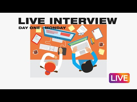 Internship Live Stream  Day One