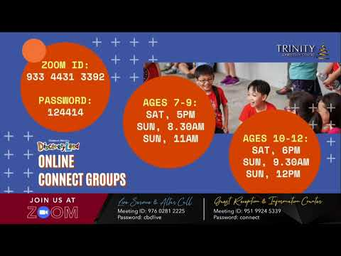 Trinity Christian Centre - Thu 7.30pm (SGT) English Online Service