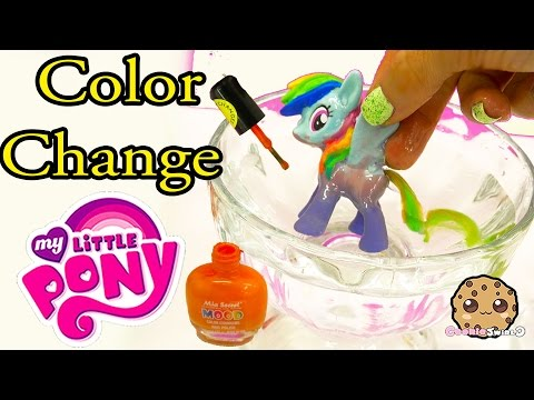 DIY Color Change Mcdonalds Rainbow Dash My Little Pony Nail Polish Painting Craft Video - default