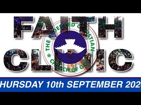 RCCG SEPTEMBER 10th 2020 FAITH CLINIC