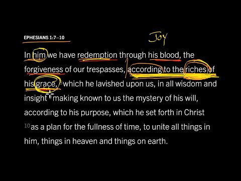 Ephesians 1:710 // Part 5 // Grace Flows from Joy in the Trinity