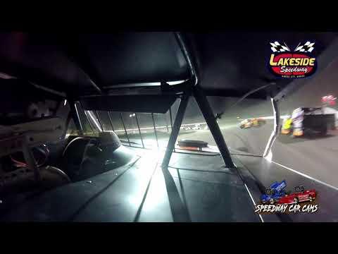 #14J Jacob Hodges - USRA B Mod - 5-14-2021 Lakeside Speedway - In Car Camera - dirt track racing video image