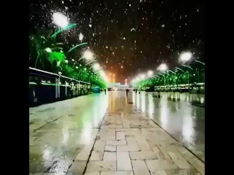 Beautiful View Of Snow Falling In Karbala