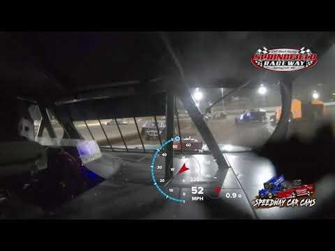 #119 Stetson Johnson - USRA B modified - 9-18-2021 Springfield Raceway - In Car Camera - dirt track racing video image