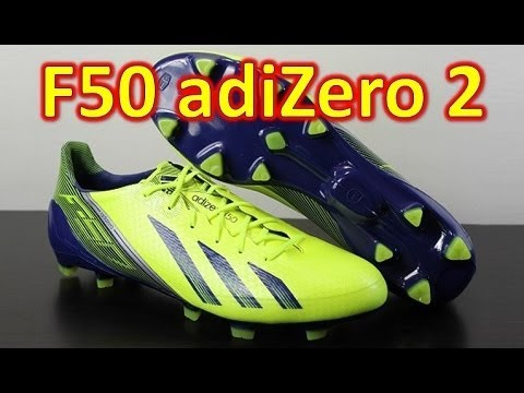 new products 14ca0 e945a Adidas F50 adizero miCoach 2 Synthetic Electricity Hero Ink - Unboxing + On  Feet   AudioMania.lt