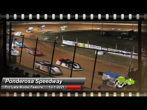 Ponderosa Speedway - Pro Late Model Feature - 10/1/2021 - dirt track racing video image