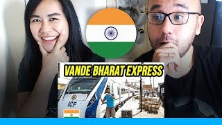Indonesians React To Foreigners try NEW VANDE BHARAT EXPRESS | Train 18 Executive Class