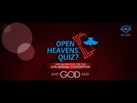 OPEN HEAVENS QUIZ RED CARPET  SPECIAL EDITION _DAY 2